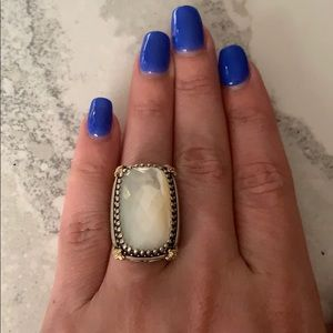 Konstantino Rectangular Mother of Pearl Ring